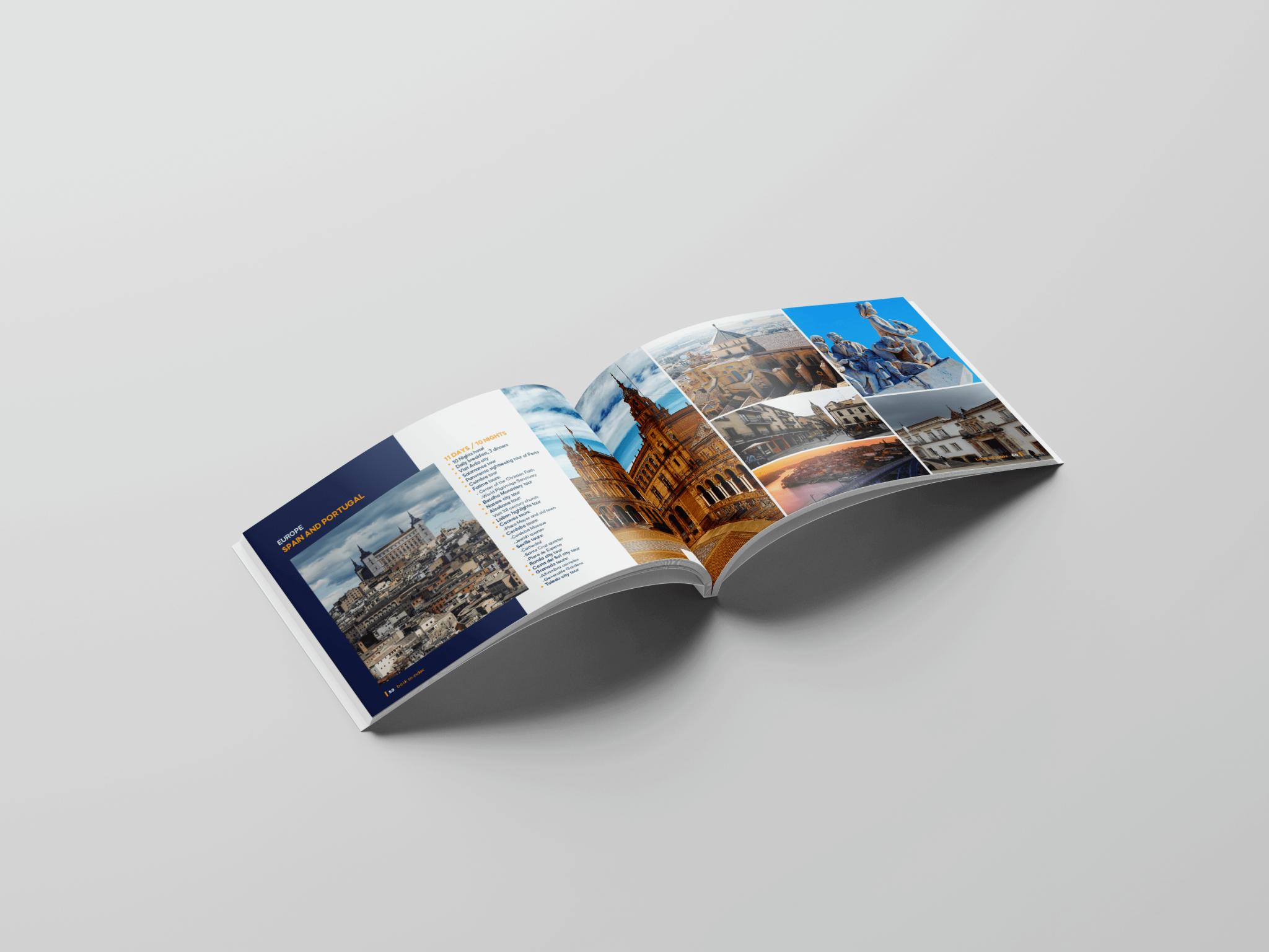 Criação de catálogo Sunspots Holidays - página dupla