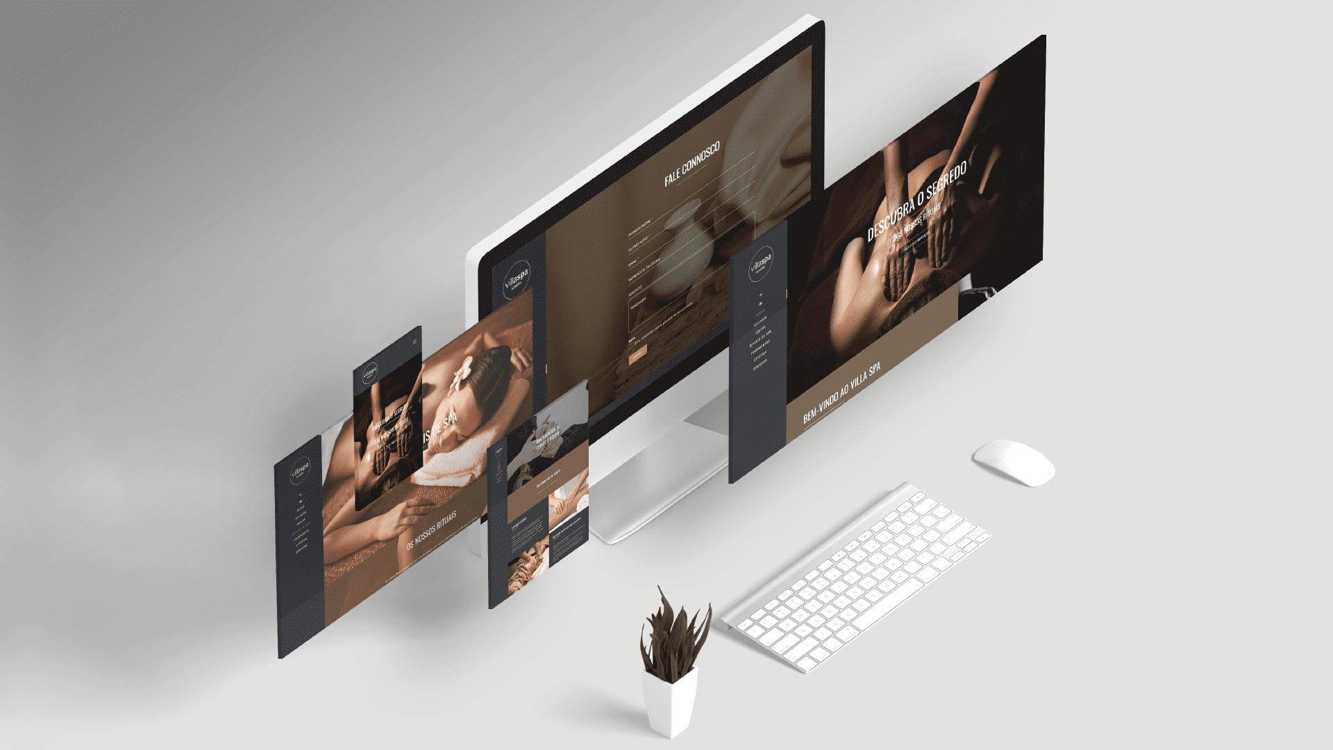 criação de website villaspa - várias páginas