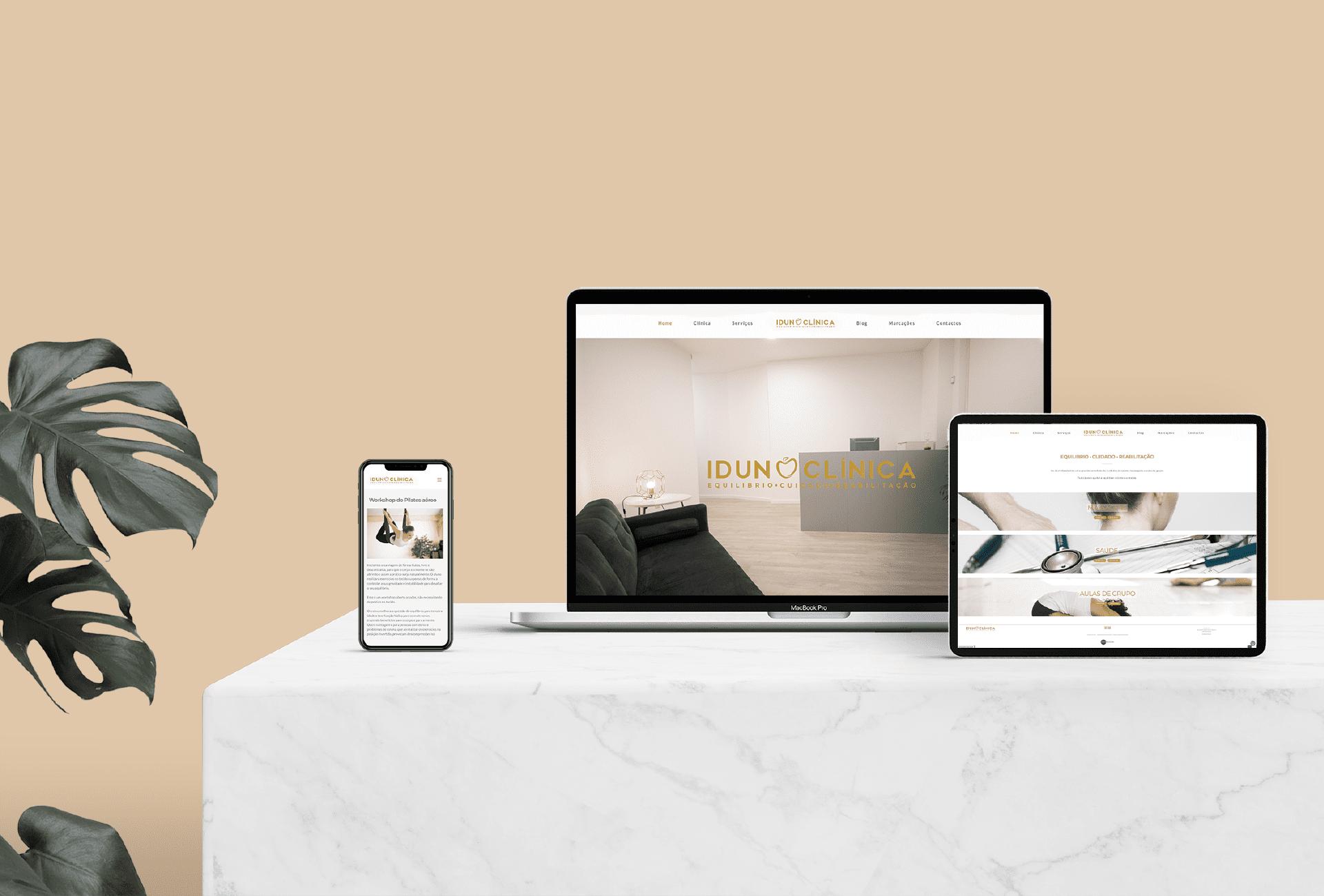 Branding Idun Clínica - website
