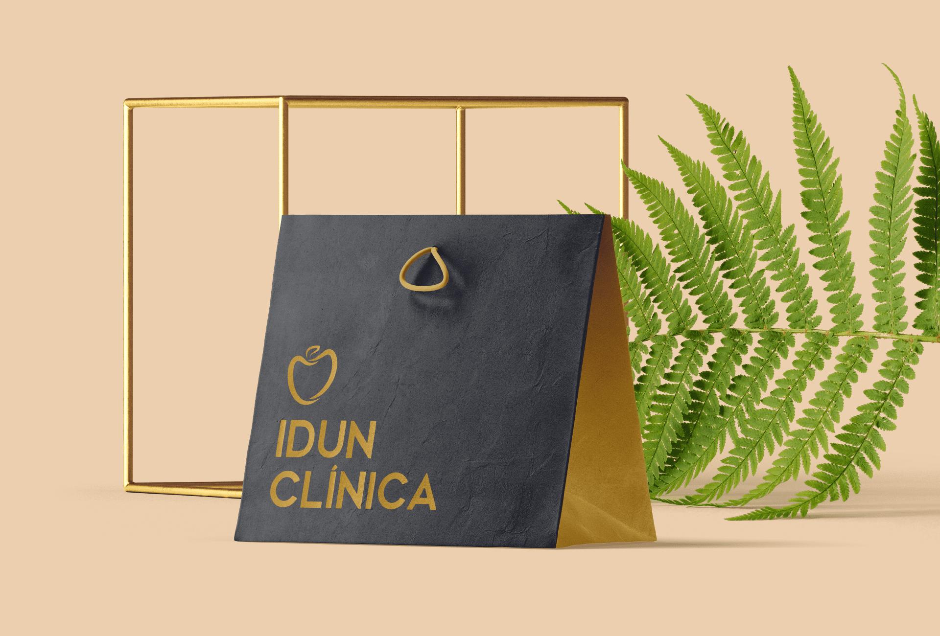Branding Idun Clínica - merchandising