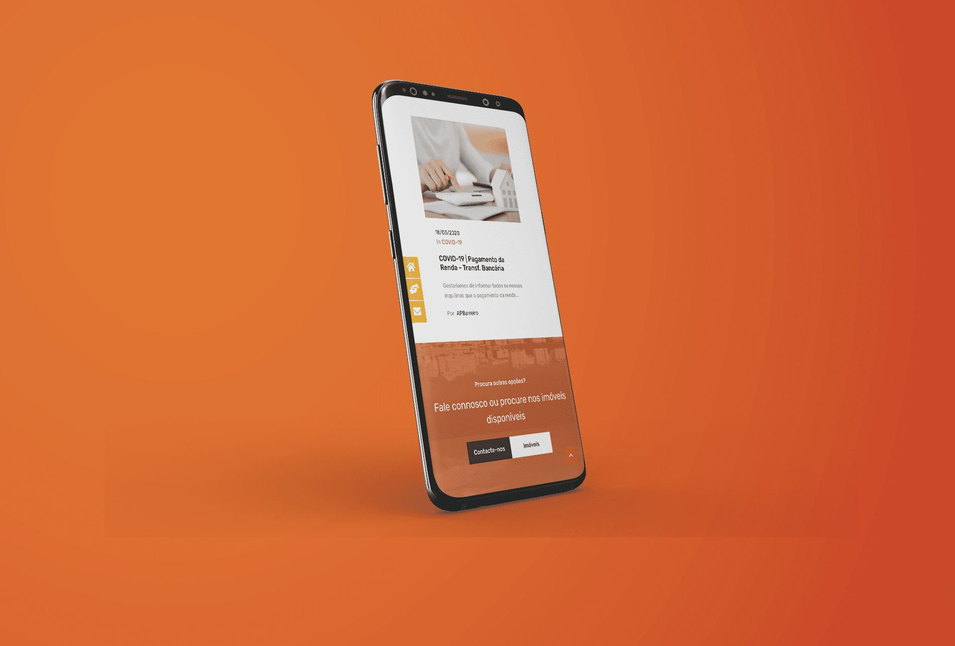 website APB - mobile