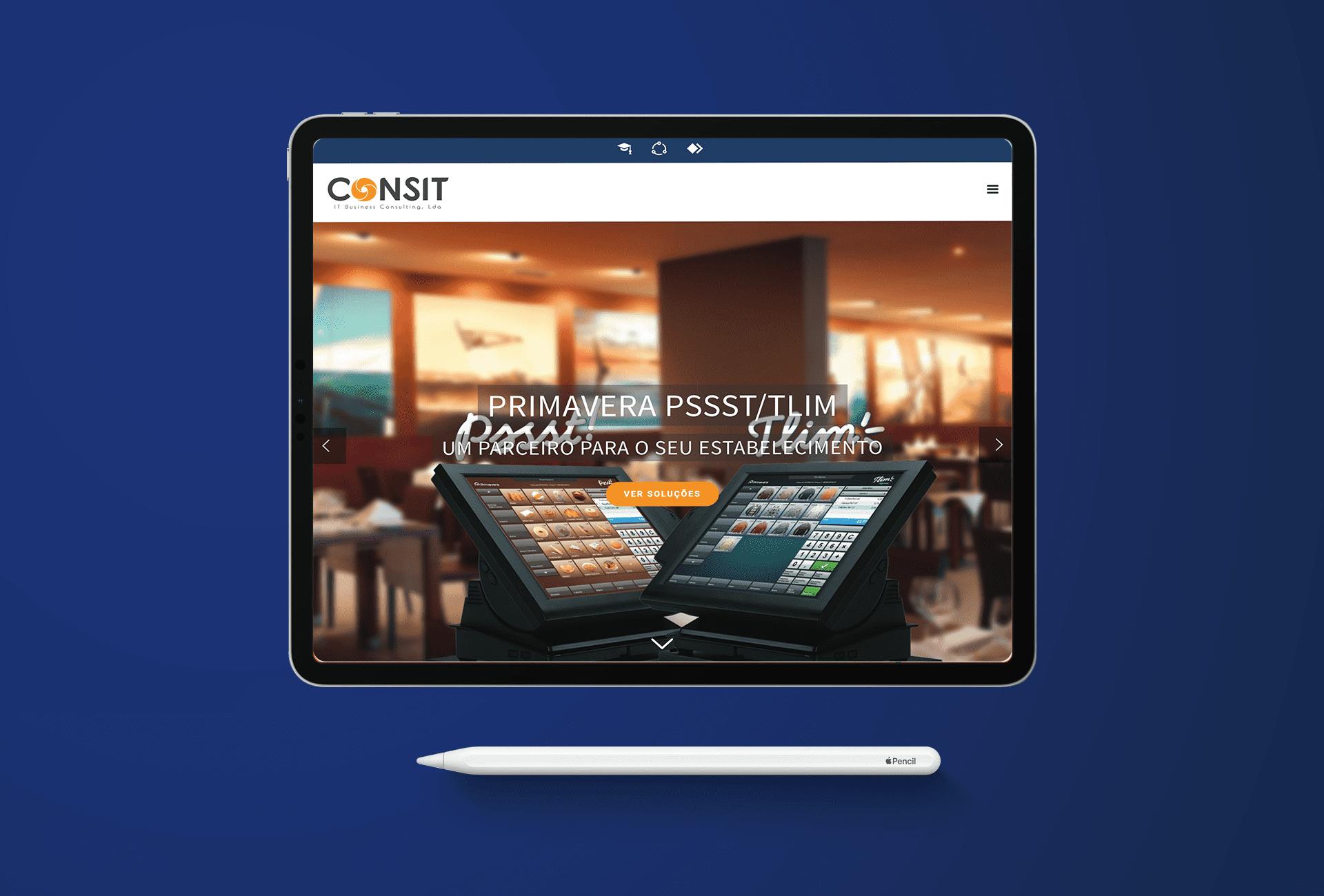 website consit - tablet