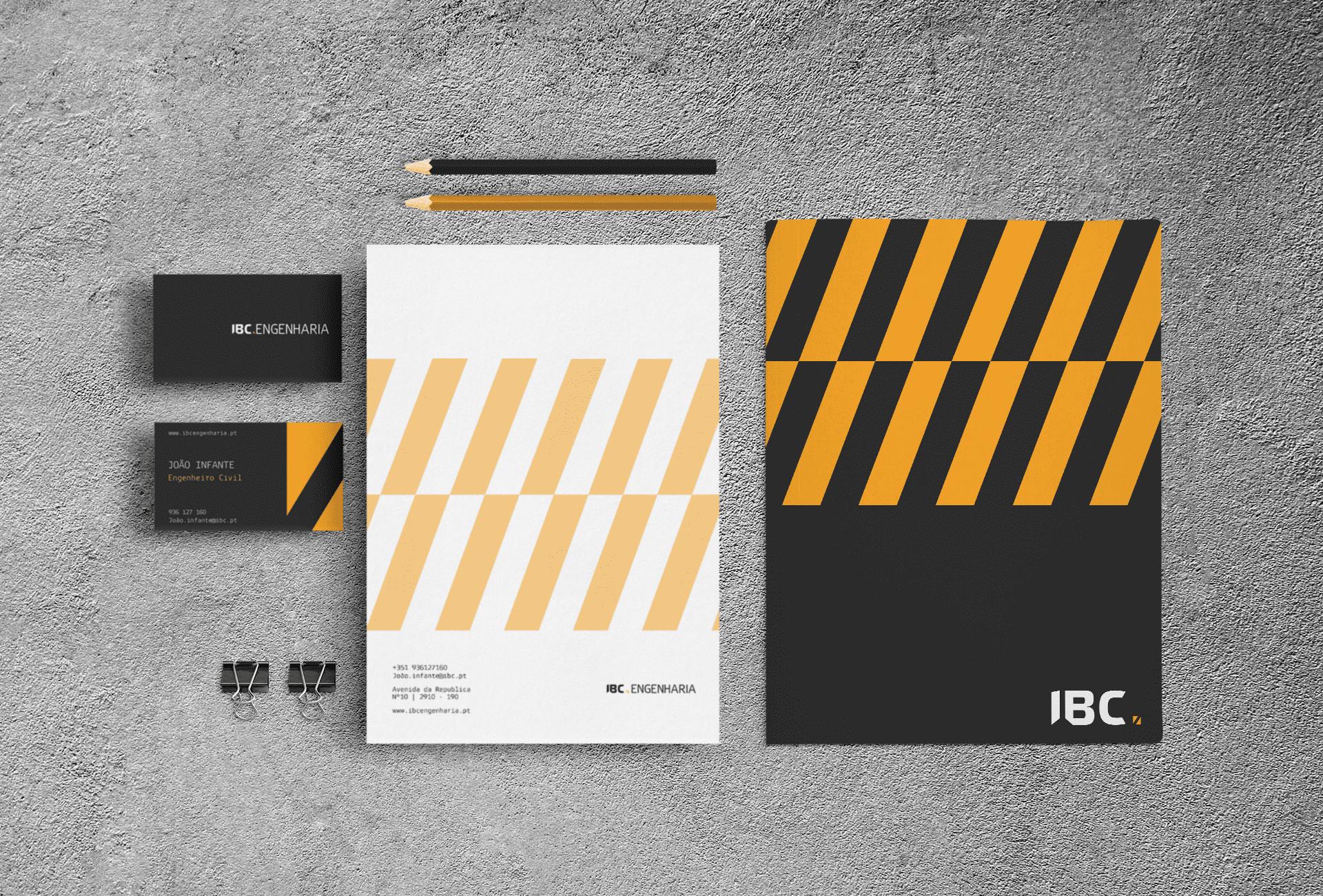 ibc construção logótipo - estacionário