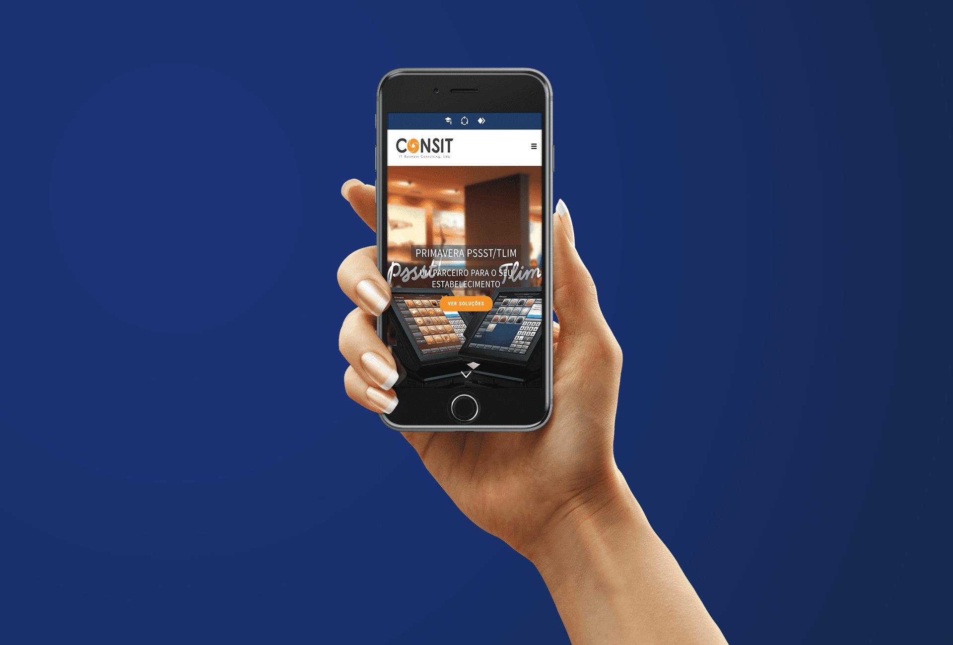 website consit - mobile