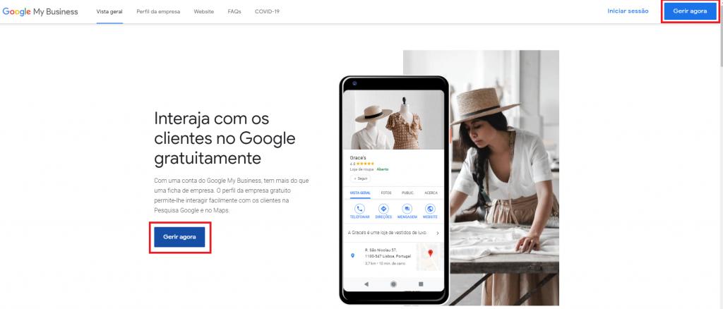 google my business - criar conta