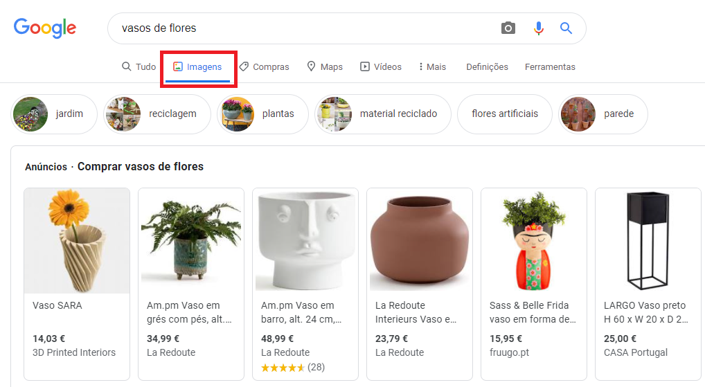 google shopping imagens