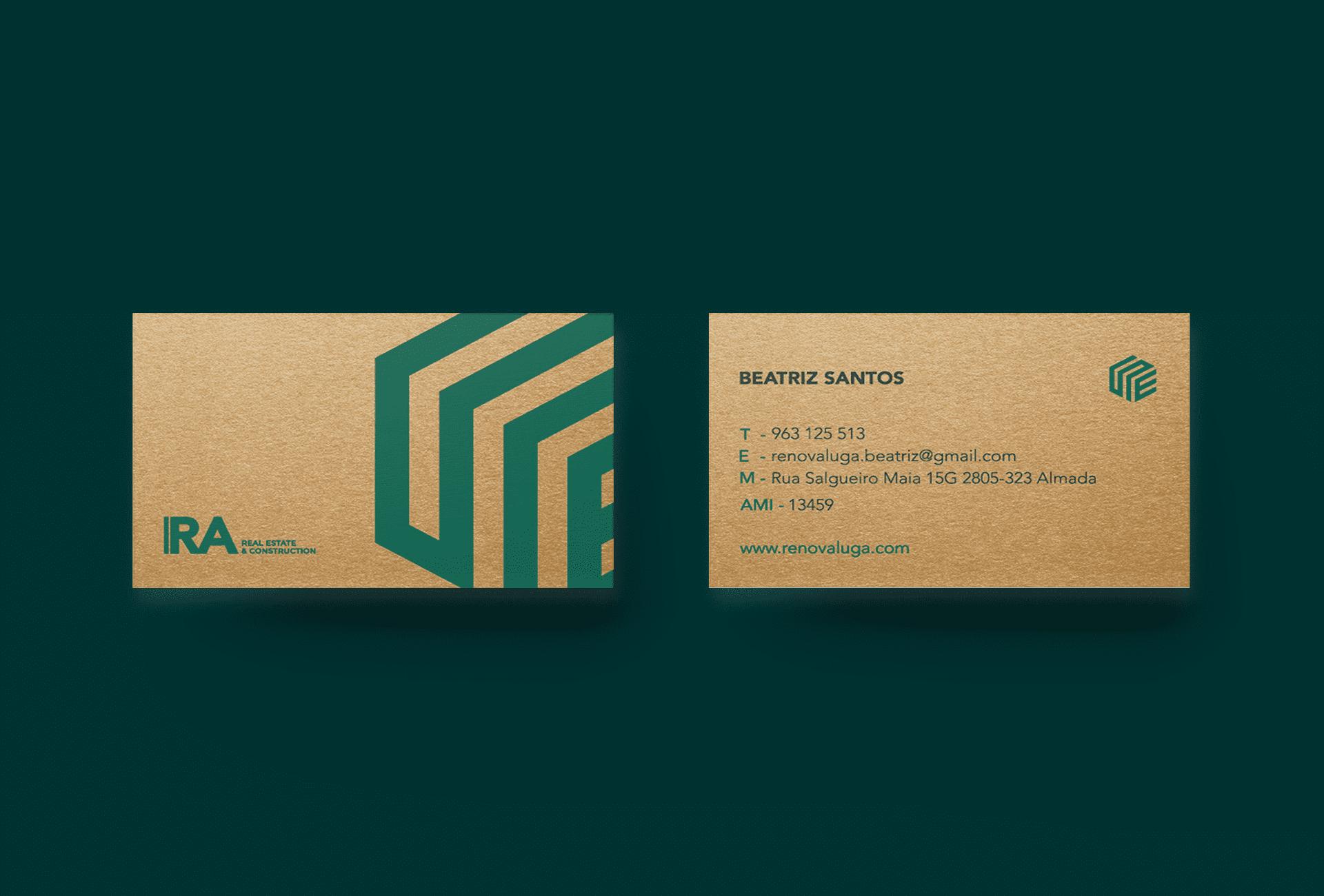 Cartões de visita Renovaluga