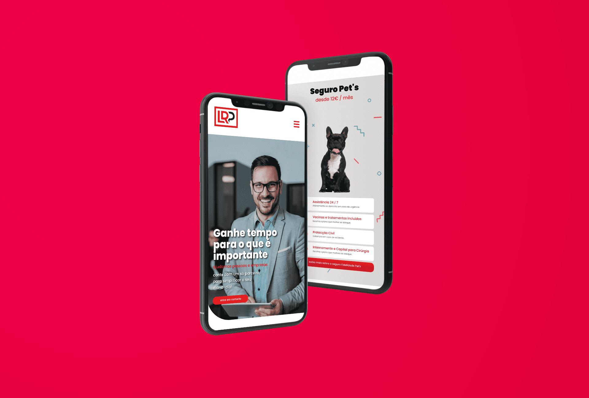 Website versão mobile- LRP Empresas